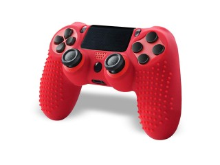Anti-Slip Grip Silicone PS4 Controller - Red