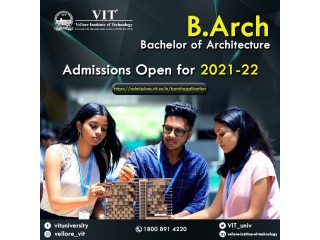 Bachelor of Architecture Degree Programme Admissions 2021-22
