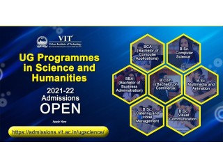 2021-22 Admissions Open for UG Programmes (BCA, BBA, BCom, B.Sc.) in Science and Humanities