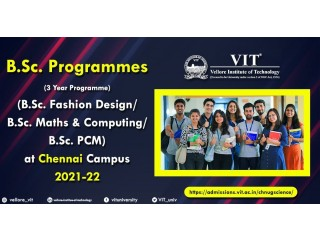 2021-22 Admissions Open for BSc 3 Year Programmes