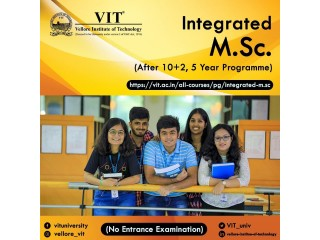 2021-22 Admissions for Integrated M.Sc. 5 Year Programme.