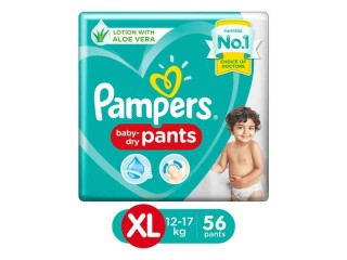 Pampers Extra Large size Baby Diapers XL Size 56 Count