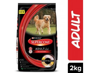 Purina Adult Dry Real Chicken Dog Food Supercoat 2kg Pack