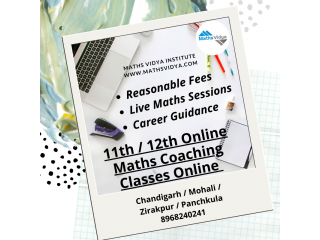 Maths Online & Home Tuition in Chandigarh  - 9, 10, 11 and 12 Classes