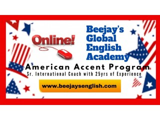 Live Learning One to One with Int'l Coach for American Accent.