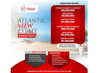 WE ARE SELLING PLOTS OF LAND AT ATLANTIC VIEW ESTATE SANGOTEDO (Call OR WhatsApp - 08027377108)