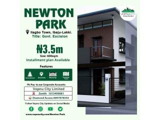 Land With Government Approved Excision For Sale At Newton Park Estate Ilagbo Town Ibeju Lekki