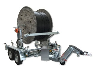 Cable drum transport and laying trailers THALER.